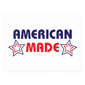 Amerikaner gemacht postkarte