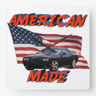Amerikaner gemacht quadratische wanduhr