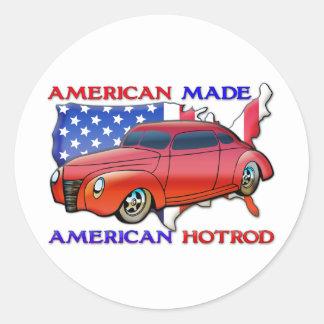 Amerikaner gemacht runder aufkleber