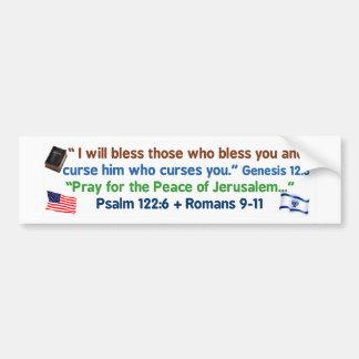 Amerikaner - segnen Sie Gott und Israel Autoaufkleber