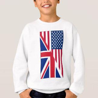 Amerikaner-und Gewerkschafts-Jack-Flagge Sweatshirt