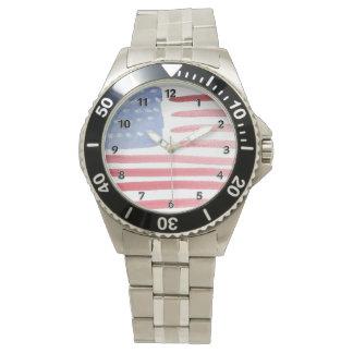 Amerikaner USA-Flagge Armbanduhr