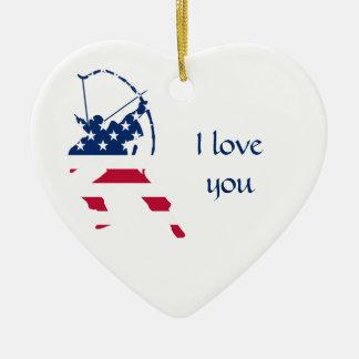 Amerikanische Bogenschützeflagge Keramik Ornament