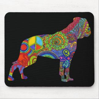 Amerikanische Bulldoggen-psychedelisches Muster Mousepads