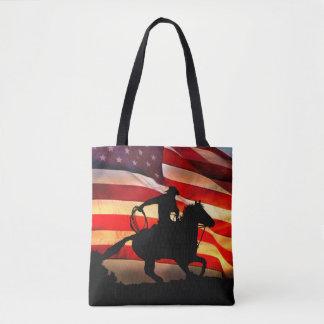 Amerikanische Cowboy-Tasche machen weiter