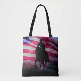 Amerikanische Cowboy-Taschen-Tasche machen weiter