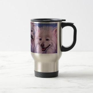 Amerikanische Eskimohunde Edelstahl Thermotasse