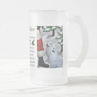 Amerikanische Eskimohundeweihnachtsgeschenke Mattglas Bierglas