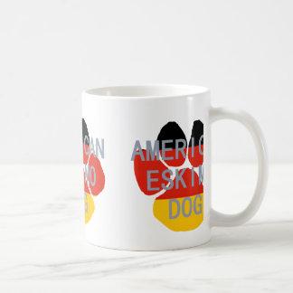 amerikanische Eskimonamensflaggentatze Kaffeetasse