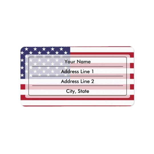 Amerikanische Flagge Adressaufkleber