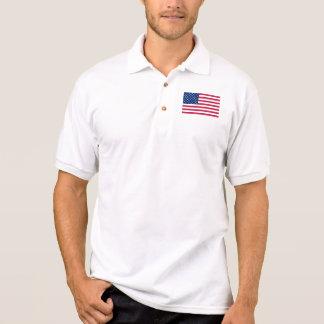 Amerikanische Flagge der USA der Männer hat Polo Shirt
