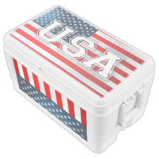 Amerikanische Flagge Eisbox