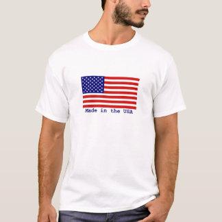 Amerikanische Flagge gemacht im T - Shirt der