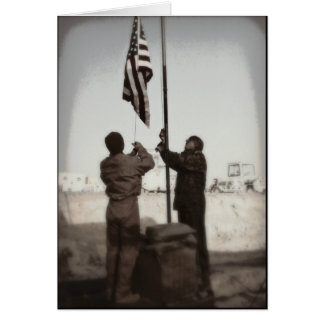 Amerikanische Flagge, Held - danke Karte