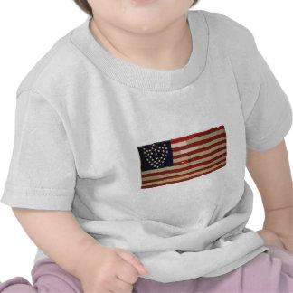 Amerikanische Flagge mit 6 Sternen T-Shirts
