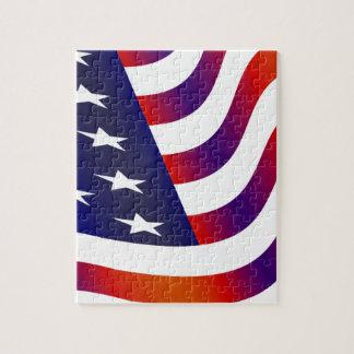 Amerikanische Flagge Puzzle