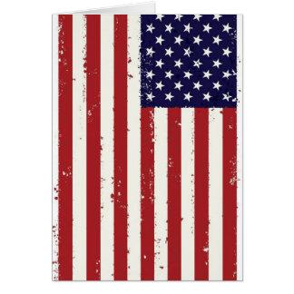 Amerikanische Flagge, USA/US Grußkarte