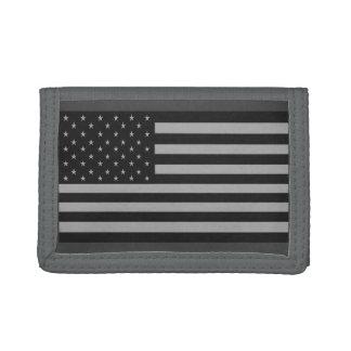 Amerikanische Flaggen-Camouflage-Geldbörsen-Grau