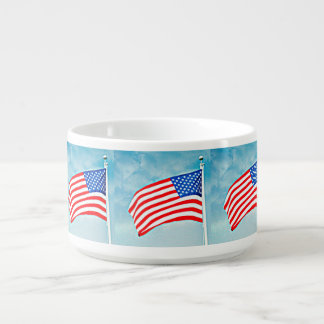 Amerikanische Flaggen-Chili-Schüssel Kleine Suppentasse
