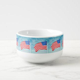 Amerikanische Flaggen-Suppen-Tasse Große Suppentasse