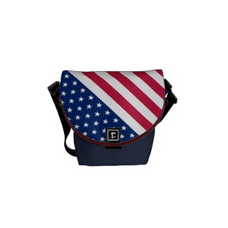 Amerikanische Flaggen-US Flagge-Bote-Tasche USA Kurier Tasche