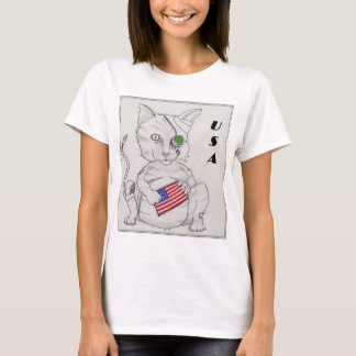Amerikanische Katze T-Shirt