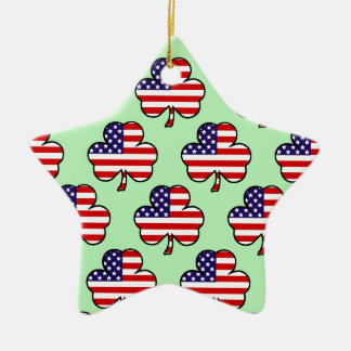 Amerikanische Kleeblätter Keramik Stern-Ornament