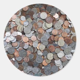 Amerikanische Münzen retten die Investierung von Runder Aufkleber