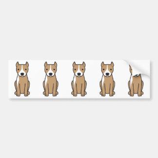 Amerikanische Pitbull Terrier (geerntete Ohren) Autoaufkleber