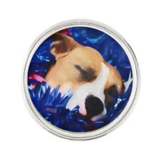 Amerikanische Pitbull Terrier USA patriotischer Anstecknadel
