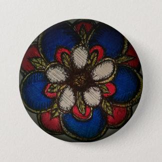 Amerikanische Rose der Versöhnung Runder Button 7,6 Cm