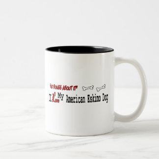 Amerikanische Tasse des Eskimohund(i-Liebe)