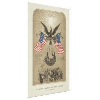 Amerikanische Unabhängigkeitserklärung illustriert Gespannter Galerie Druck