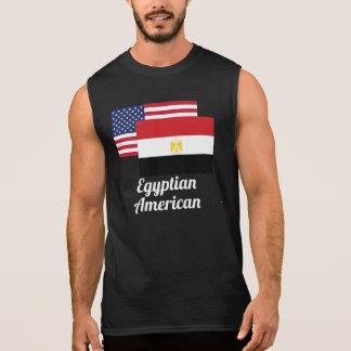 Amerikanische und ägyptische Flagge Ärmelloses Shirt