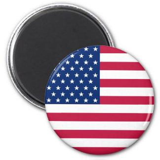 Amerikanische US Flaggen-patriotischer runder Runder Magnet 5,1 Cm