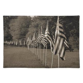Amerikanische Veteranen-Flaggen Tischset