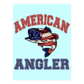 Amerikanischer Angler Postkarte