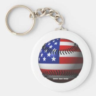 Amerikanischer Baseball Schlüsselanhänger