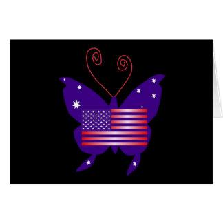 Amerikanischer Diva-Schmetterling Grußkarte