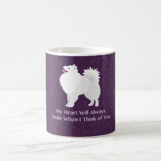 Amerikanischer Eskimohund, der an Sie Entwurf Tasse