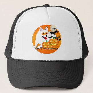 Amerikanischer Eskimohund Halloween Truckerkappe
