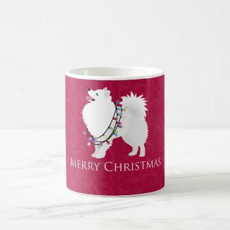 Amerikanischer Eskimohundefrohe Weihnacht-Entwurf Tasse