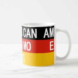 amerikanischer Eskimoname auf Flagge Kaffeetasse
