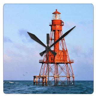 Amerikanischer Masse-Leuchtturm, Florida-Schlüssel Quadratische Wanduhr