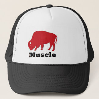 Amerikanischer Muskel-Büffel-Fernlastfahrer Truckerkappe