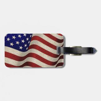 Amerikanischer Patriot-Vintage US Flagge US-Flagge Kofferanhänger