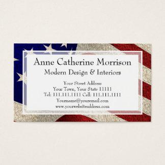 Amerikanischer Patriot-Vintage US Flagge US-Flagge Visitenkarte