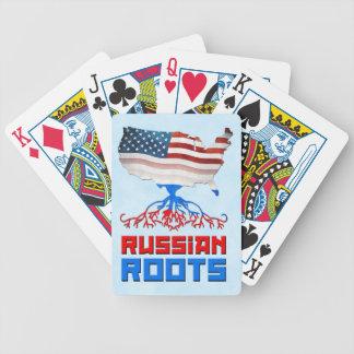 Amerikanischer Russe wurzelt Kartensatz Bicycle Spielkarten