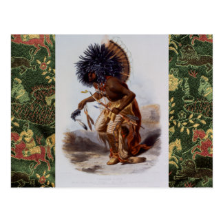 Amerikanischer Ureinwohner Postkarte