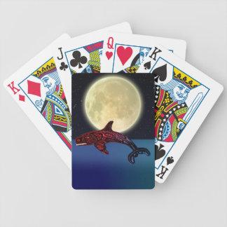 Amerikanischer Ureinwohnerhaida-Schwertwal-u. Bicycle Spielkarten